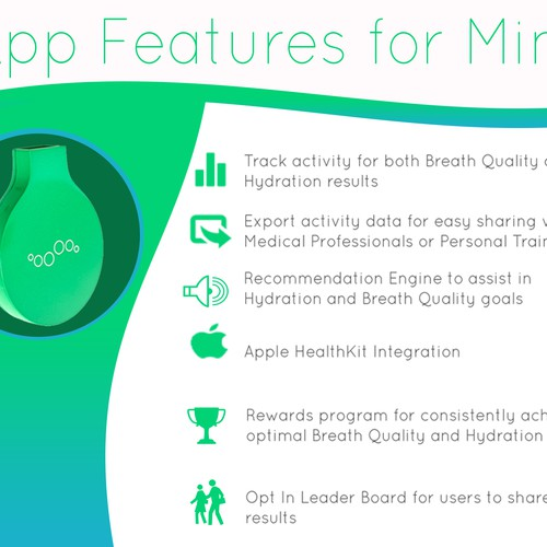 4 HOUR CONTEST - Mint by Breathometer - Indiegogo campaign banner design! Design by READEL