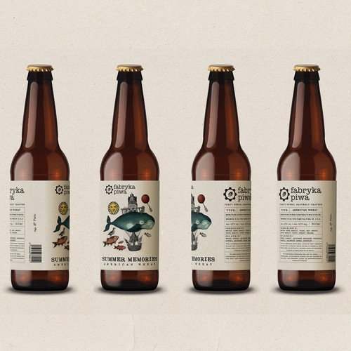 Beer labels for Fabryka Piwa Design by Martis Lupus