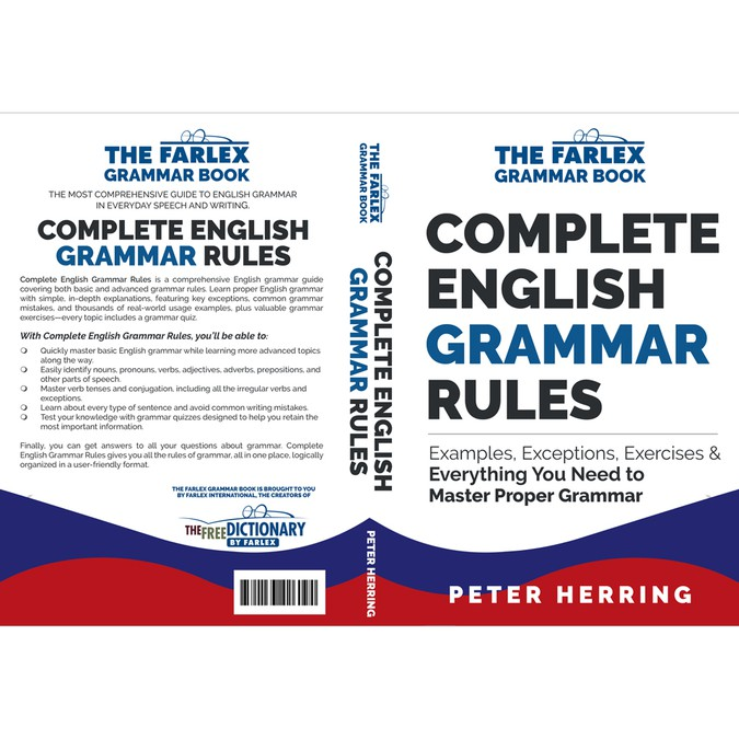 Design a cover for a modern English grammar guide | Book cover contest