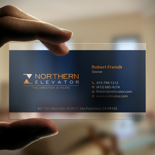 Northern elevator business card custom design business card contest runner up design by arkhan02 reheart Choice Image