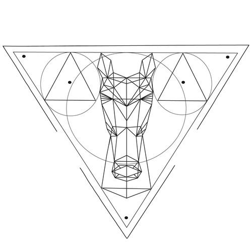Looking for a tattoo design horse geometric pattern Design by Daria Dobronravova