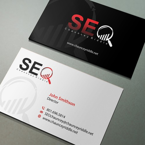 A professional high end digital marketing business card business runner up design by conceptu colourmoves
