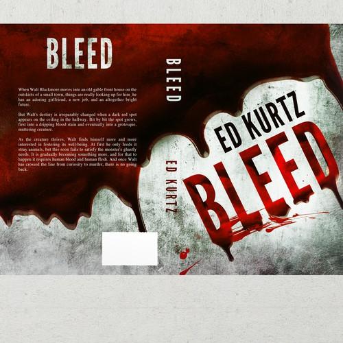 Horror Book Cover Ideas : Simple crisp bloody horror book cover contest
