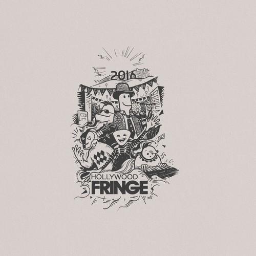 The 2016 Hollywood Fringe Festival T-Shirt Design by -Z-