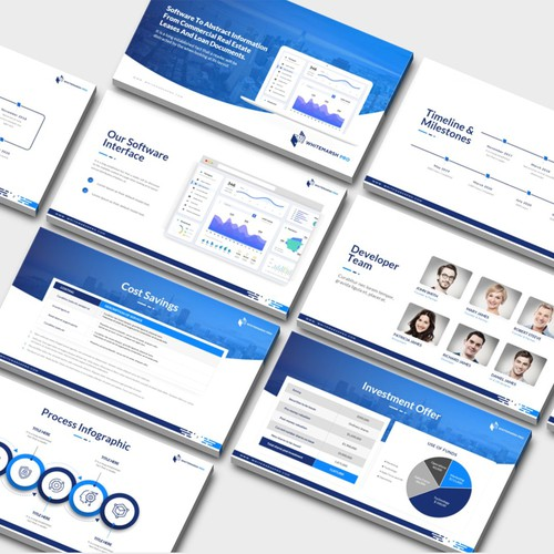 Deck For Commercial Real Estate Machine Learning Company Powerpoint Template Contest 99designs