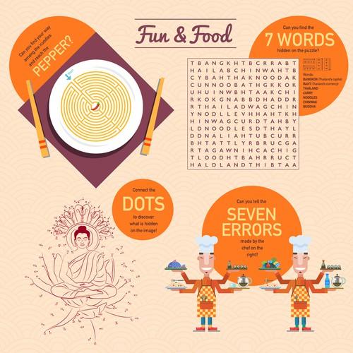 Kids menu for award winning modern thai restaurant