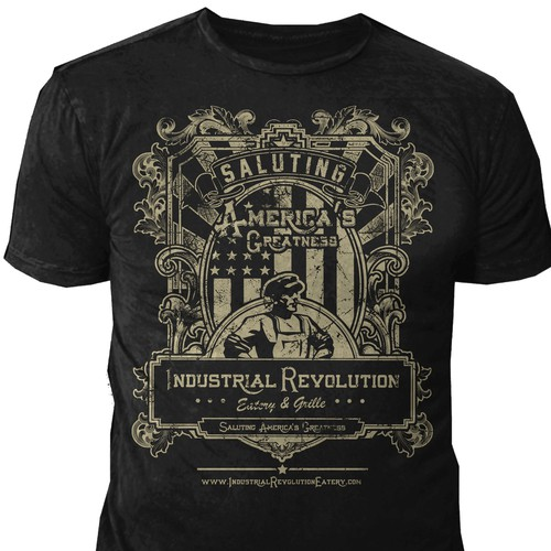 Create a vintage tee shirt design for industrial for Industrial design t shirt