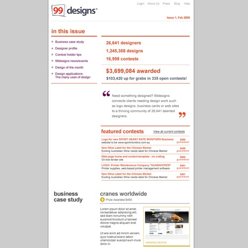 Design finalista por 99ideas