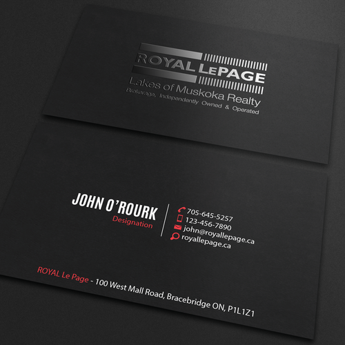 Guaranteed contest sophisticated business card business card runner up design by an designer reheart Image collections