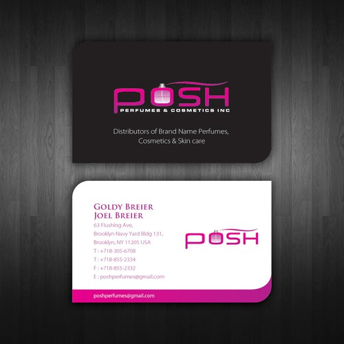 New Business Card wanted for Posh Pefumes & Cosmetics Inc