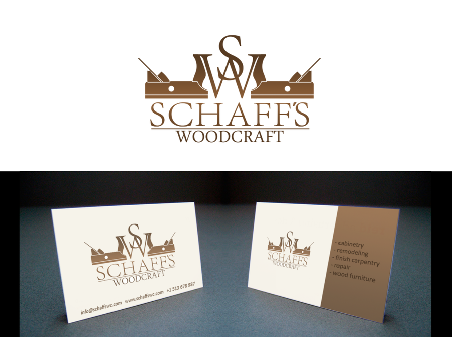 Schaff S Woodcraft Needs A New Logo And Business Card Logo
