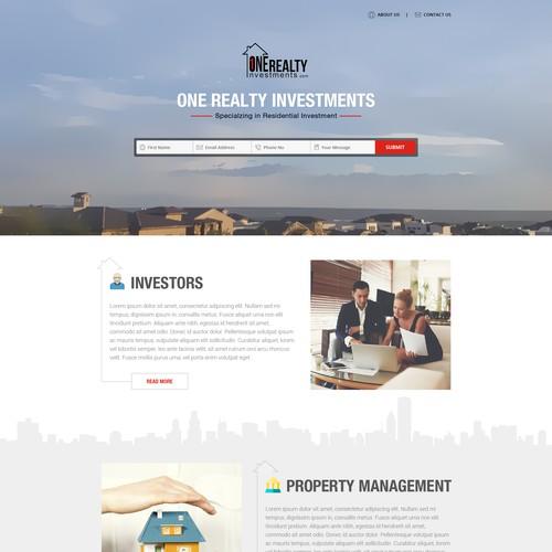 Residential Real Estate Investment Website | WordPress theme design