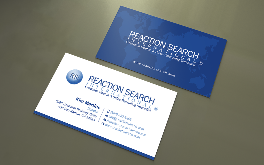 Create a new business card design for an executive search company winning design by an designer reheart Choice Image