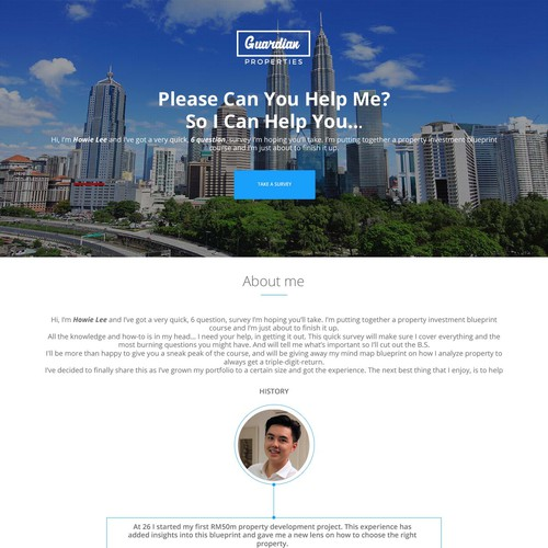 Create a property investment landing page landing page design contest runner up design by diqa malvernweather Gallery