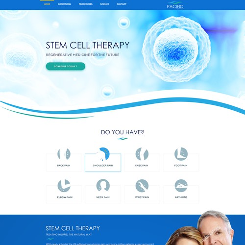 Design a powerful converting Stem Cell Therapy landing page