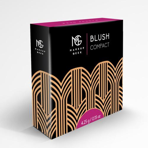 Makeup Geek Blush Box w/ Art Deco Influences Design by JavanaGrafix