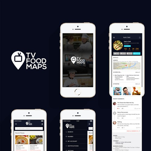 Create new mobile app experience for tvfoodmaps app for Blueprint creator app