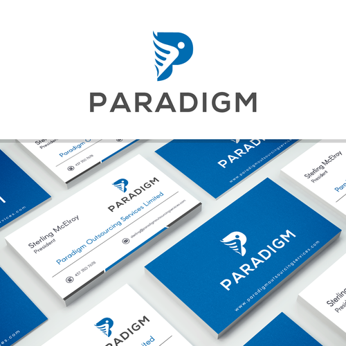 Paradigm outsourcing services needs a strong and powerful logo runner up design by kabali99 reheart Gallery
