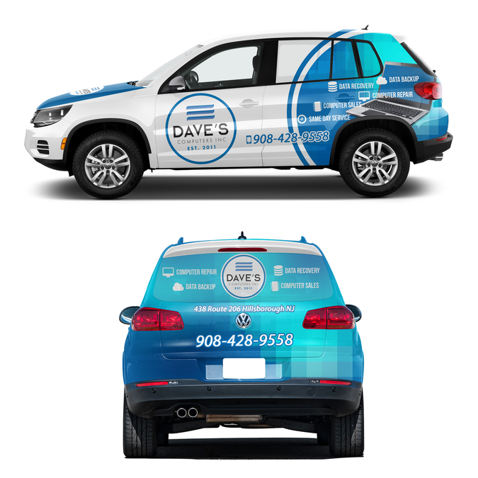Create A Cool Car Wrap For Computer Company