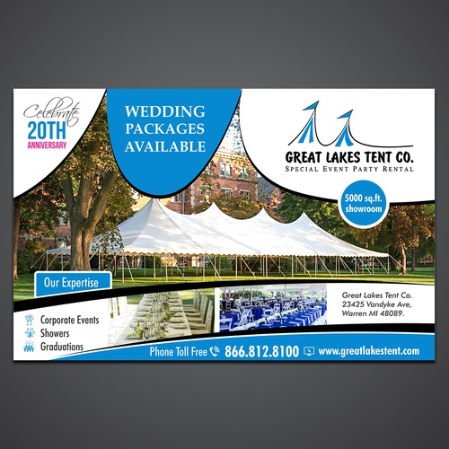 Apartment For Rent Flyer: 1/2 Page Print Add For Wedding Guide. Tent Rental Company