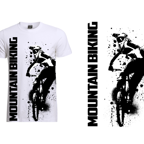 Mountain Biking T Shirt Design T Shirt Wettbewerb