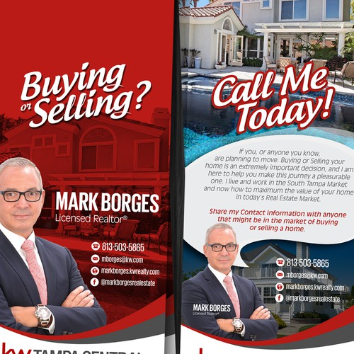 real estate prospecting door hanger postcard flyer or print contest