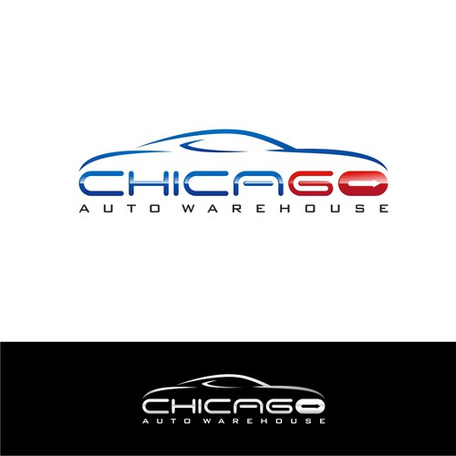 Chicago Used Car Dealership - Modern Logo