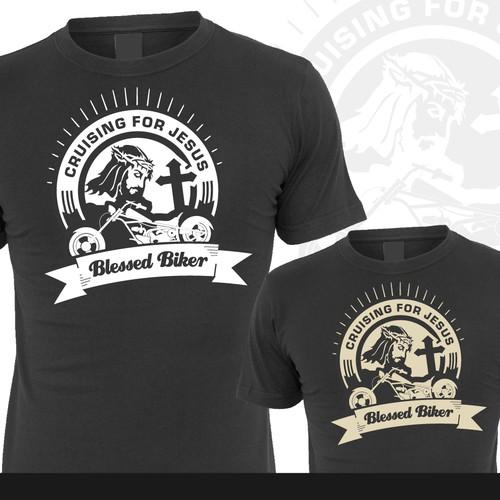 96239040 Cruising for Jesus - Biker T-shirt Design   T-shirt contest