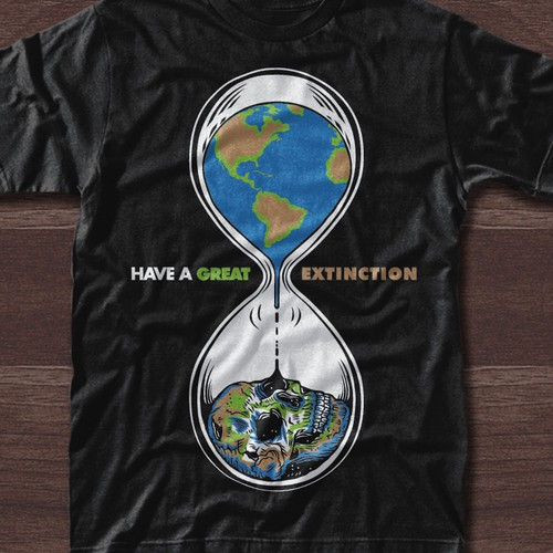 Funny T-shirt design for a serious subject. Design by welikerock