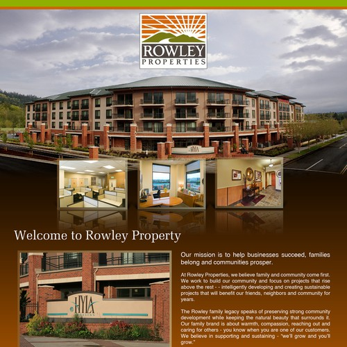 Create a modern, sophisticated Commercial Real Estate flyer
