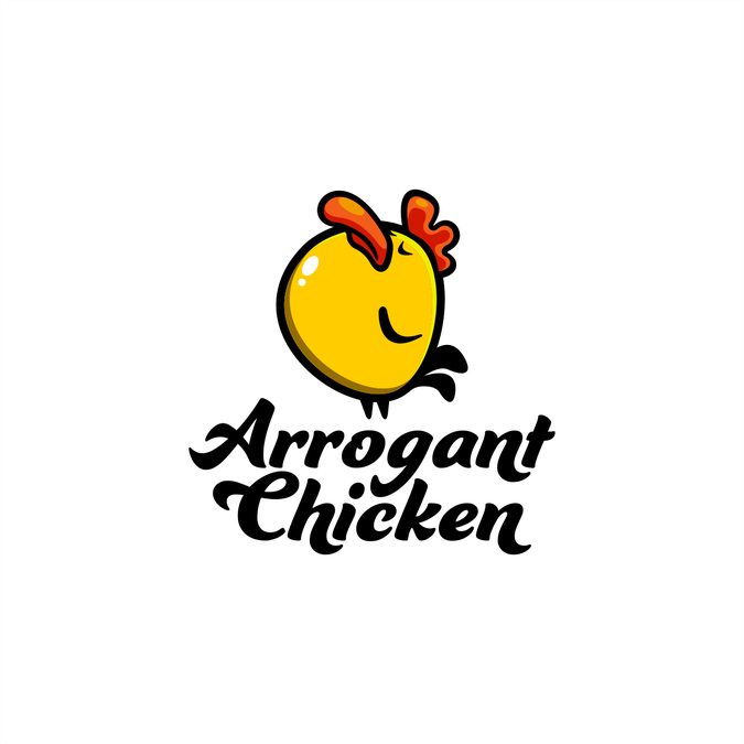 Design a cool sleek funny logo for arrogant chicken for Home decor logo 99design