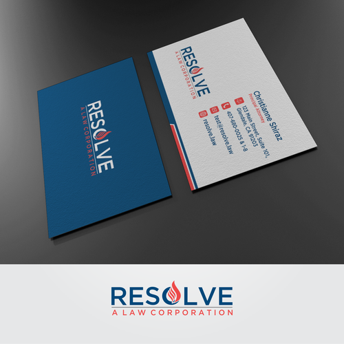 Minimalist but strong logo and business card for resolve a law runner up design by izhar kamaluddin reheart Choice Image