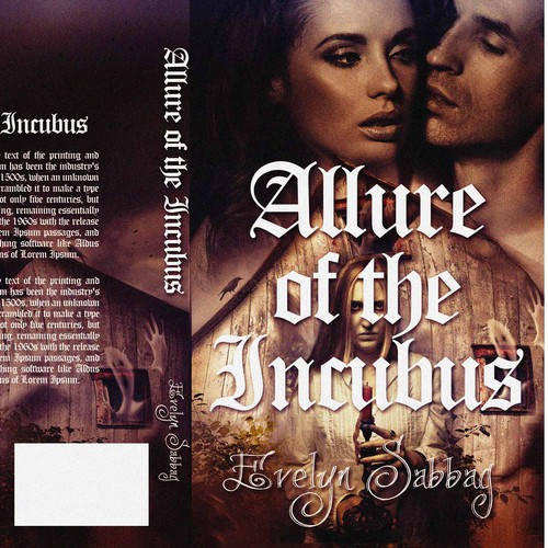 Paranormal Romance Book Cover Design : Quot allure of the incubus book cover for a paranormal