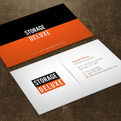 Business card designs for storage deluxe business card contest runner up design by xclusive16 colourmoves