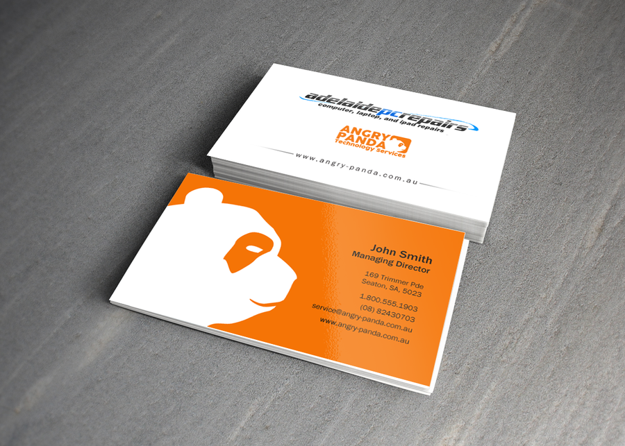 business card - two logos | Business card contest