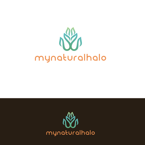 Create a simple superior logo for my natural halo that for Kitchen designs that stand the test of time