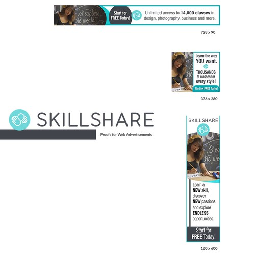 Skillshare needs some creative banner ads | Banner ad contest