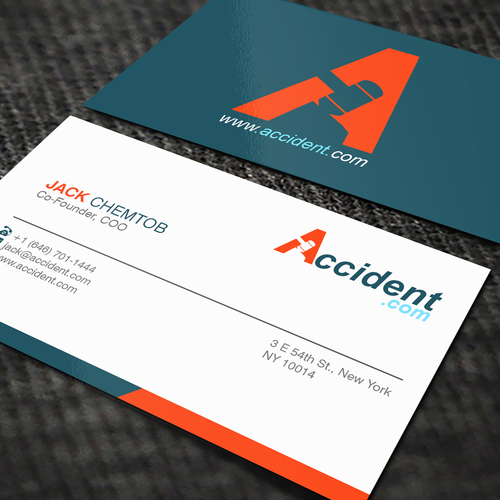 Save People From Accidents with Accident.com | Business card contest