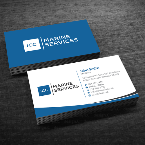 Icc marine business cards business card contest runner up design by designc colourmoves