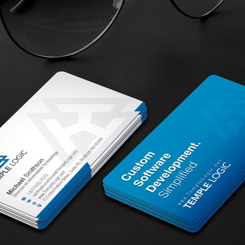 Business card for software company business card contest runner up design by veer colourmoves