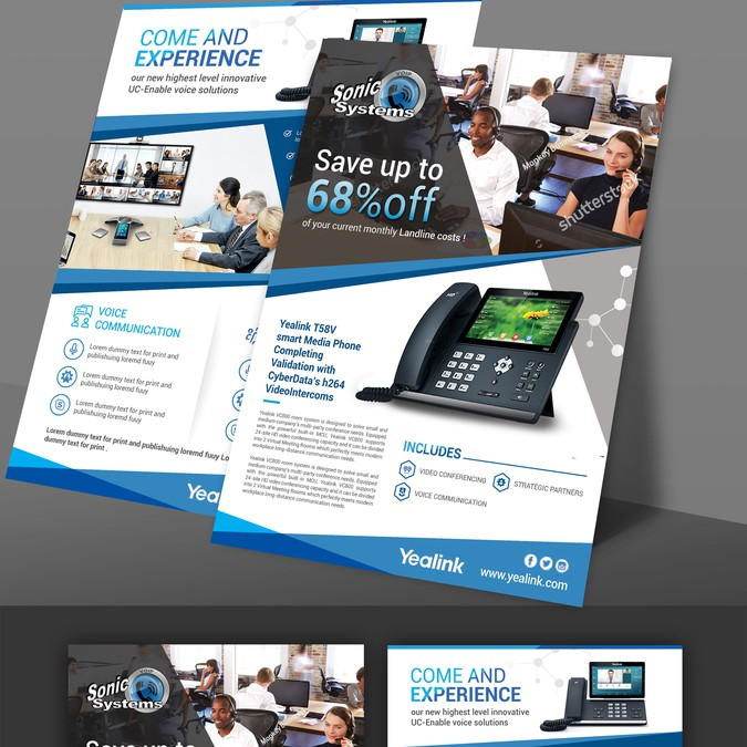 voip sales flyer template to replicate is attached はがき
