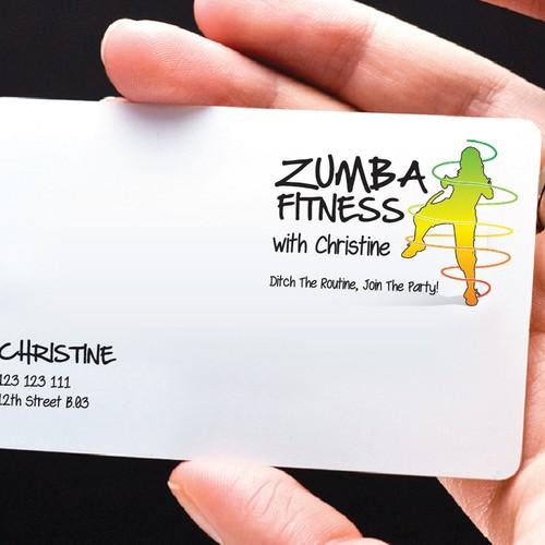 Logo for zumba fitness with christine logo design contest runner up design by ikiyubara reheart Choice Image