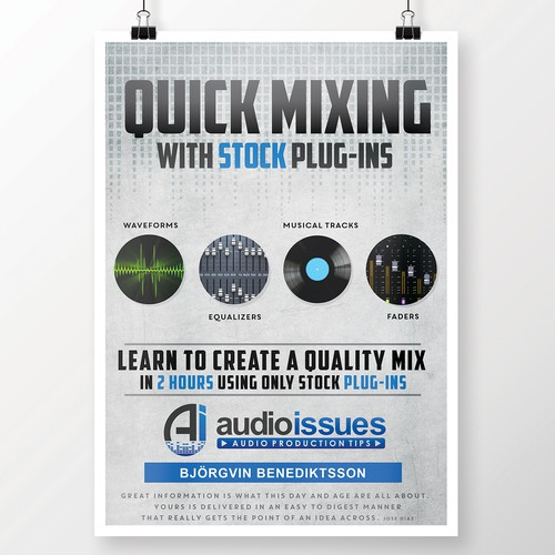 Create a Music Mixing Poster for an Audio Tutorial Series Design by DESIGN SPACE ®