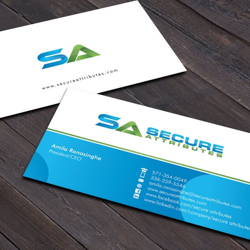 Modern professional cybersecurity business card business card contest runner up design by xclusive16 colourmoves