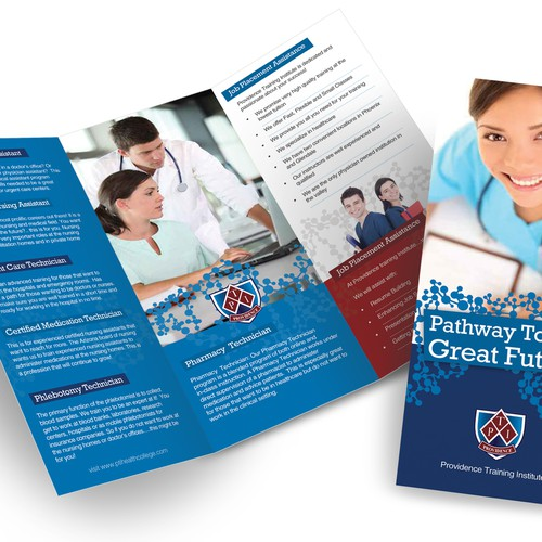 brochure design for training institute brochure design for providence training institute