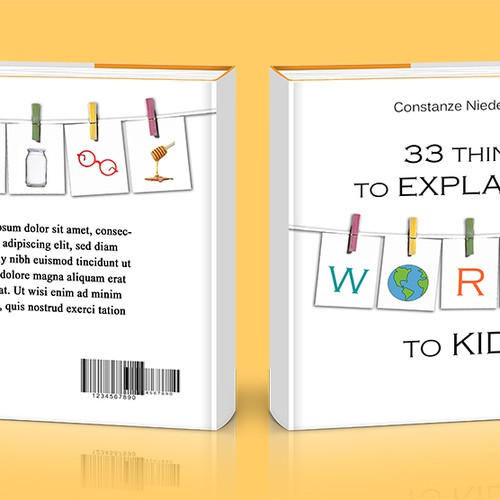 Create a book cover for - 33 Things to explain the world to kids. Design by CreativeBloom