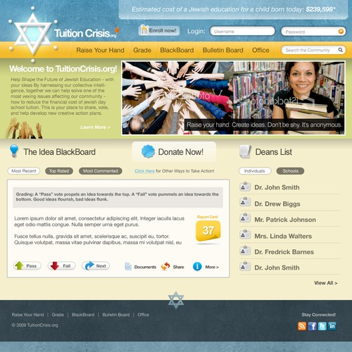 Diseño finalista de thepatjohnson.com
