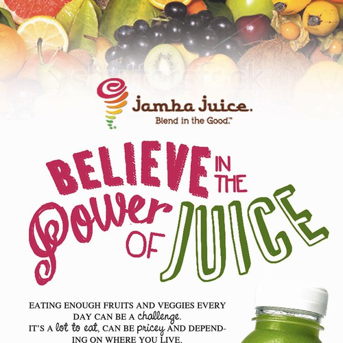 Create an ad for Jamba Juice Design by oedin_sarunai