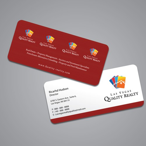 Create the next stationery for las vegas quality realty las vegas runner up design by totok budiarto reheart Choice Image