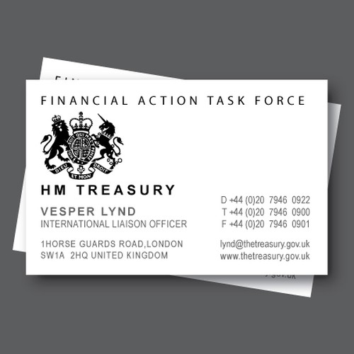 Create A Replica Of Business Card From A James Bond Movie Very